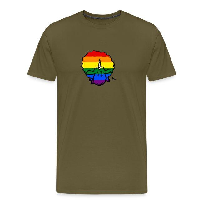 Rainbow Ewenicorn - it's a unicorn sheep!