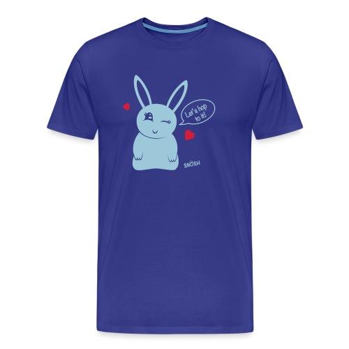 Bunny heart blue - Men's Premium T-Shirt