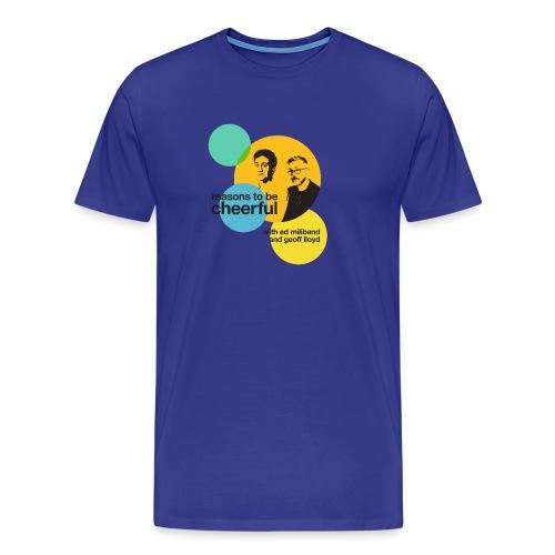 Reasons logo with Ed & Geoff (light background) - Men's Premium T-Shirt