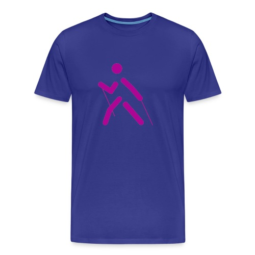nordic walking - Mannen Premium T-shirt
