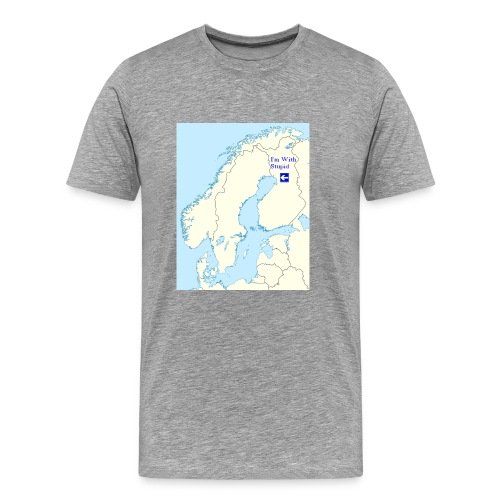 I'm With Stupid (Sweden edition) - Miesten premium t-paita