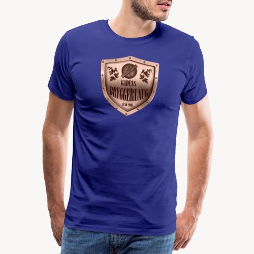 guld logo - Herre premium T-shirt