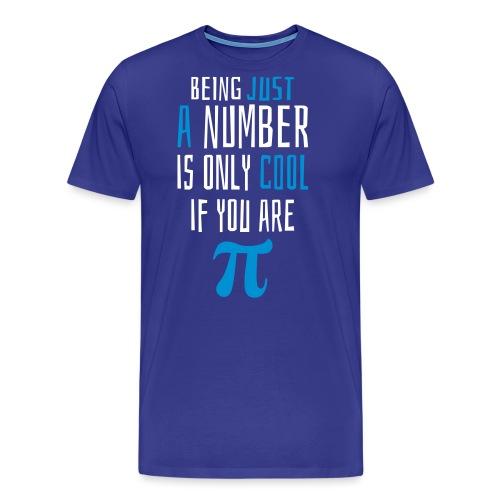 Zahl Pi Geek Spruch - Männer Premium T-Shirt