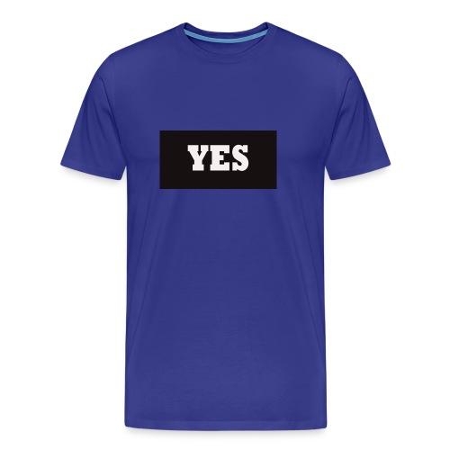 Yes Text - Mannen Premium T-shirt