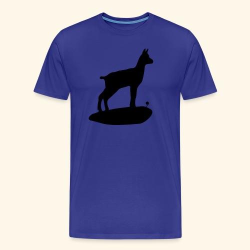 Le chamois bebe et la fleur - T-shirt Premium Homme