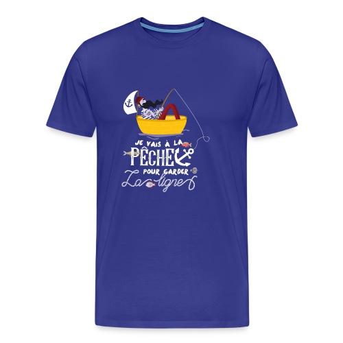 pêche pêcheur bateau barque poisson voilier ancre - T-shirt Premium Homme