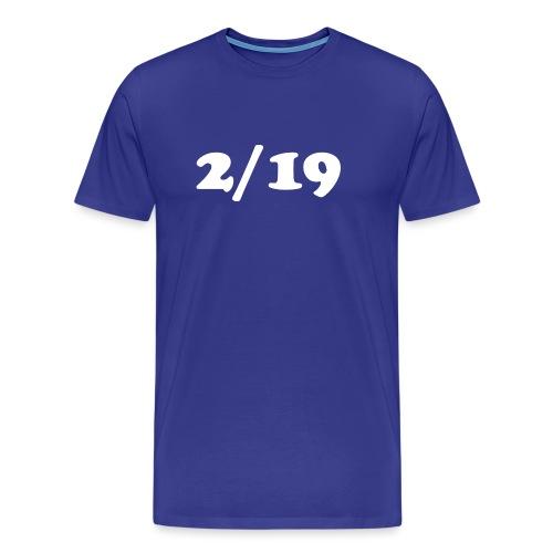 2/19 - Miesten premium t-paita