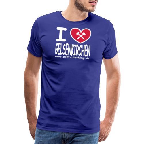 I love Gelsenkrichen - Hammer & Schlägel by - Männer Premium T-Shirt