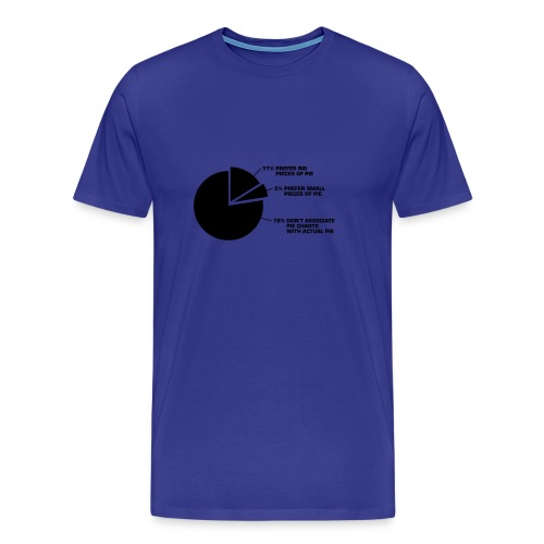 Pie Chart - Mannen Premium T-shirt