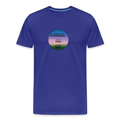Squirrel And Uni Muismat - Mannen Premium T-shirt