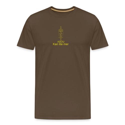 LedSS text png - Premium-T-shirt herr