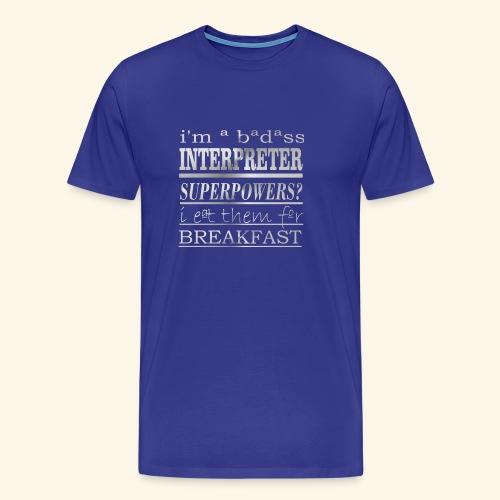 INTERPRETER - Maglietta Premium da uomo