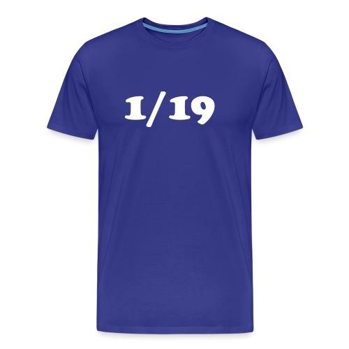1/19 - Miesten premium t-paita