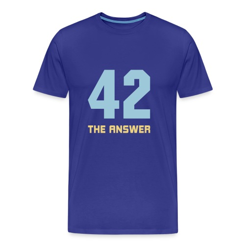 42, the Answer Antwort Galaxis Science Fiction UFO - Men's Premium T-Shirt