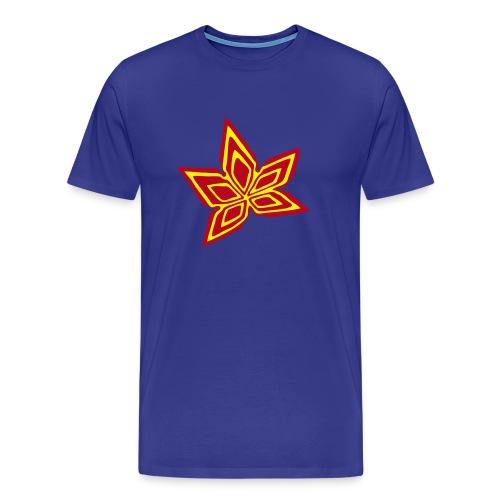 Hanfblatt #2 (3farbig) - Männer Premium T-Shirt