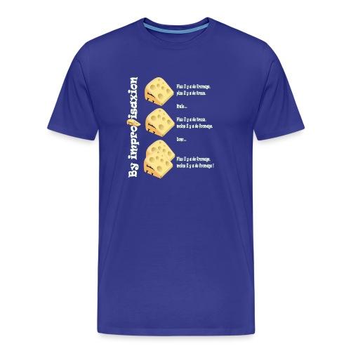 Moins il y a de fromage ? - T-shirt Premium Homme