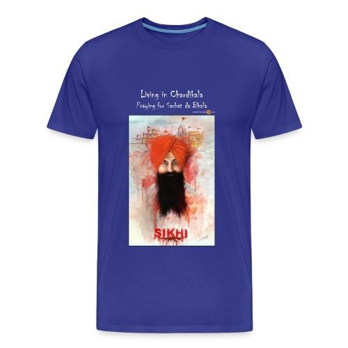Rajoana white text - Men's Premium T-Shirt