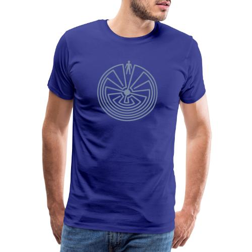 Schamanisches Symbol - Man In The Maze - Männer Premium T-Shirt