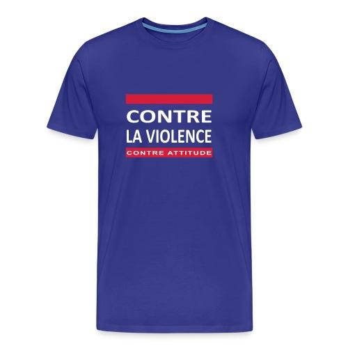 CONTRE LA VIOLENCE - T-shirt Premium Homme