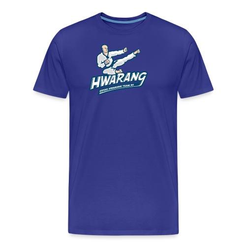 Hwarang logo v2 - Miesten premium t-paita