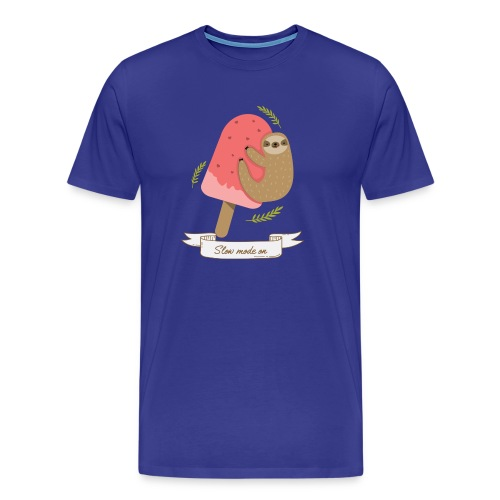 Paresseux Slow mode on - T-shirt Premium Homme