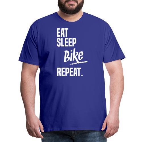 EAT SLEEP BIKE - T-shirt Premium Homme