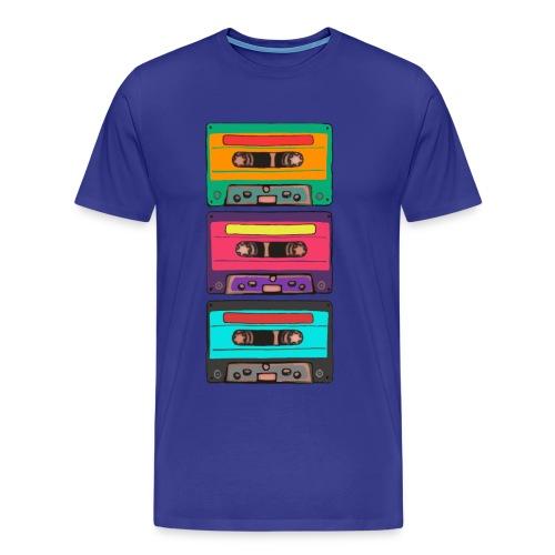 Colorful Cassettes row - Premium-T-shirt herr
