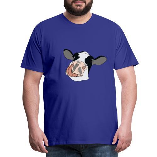 Kuh mit Zunge - Männer Premium T-Shirt