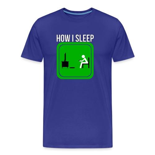 How A Gamer Sleeps by JuiceMan Benji - Men's Premium T-Shirt
