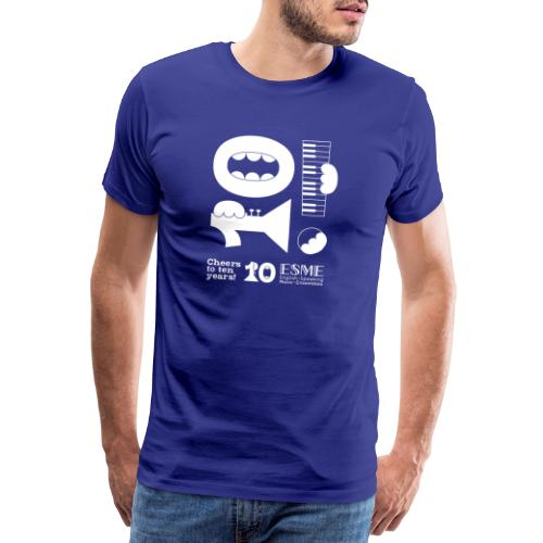 ESME Anniversary Simple Design Weiss - Männer Premium T-Shirt