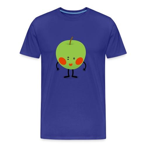 Happy Apfel - Männer Premium T-Shirt
