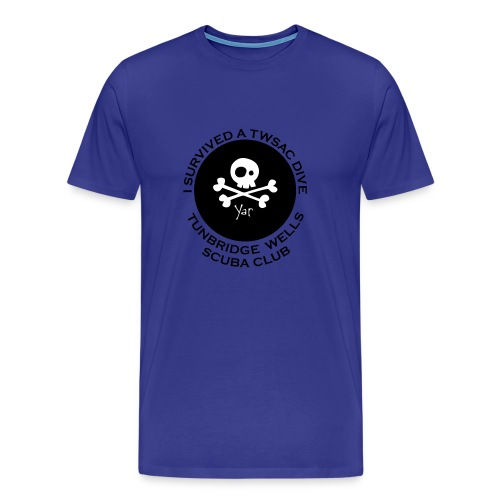 TWSAC vector back skull - Men's Premium T-Shirt