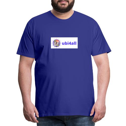 ubi4all horizontal blue - Mannen Premium T-shirt