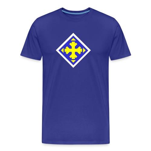 Mäksäreppu, vaalean sininen - Miesten premium t-paita