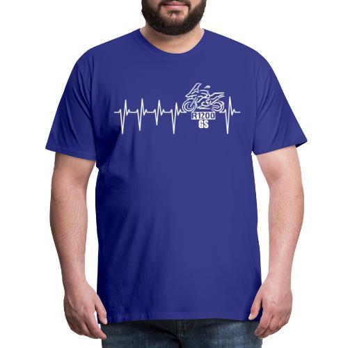 Motorrad Herzschlag Enduro Boxer R 1200 - Männer Premium T-Shirt