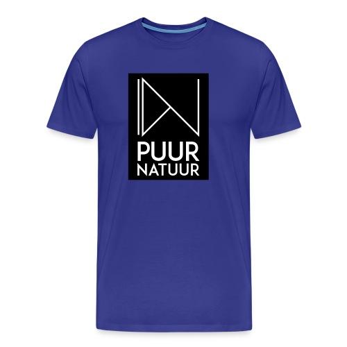 Logo puur natuur negatief - Mannen Premium T-shirt