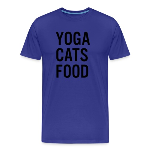 YOGA CATS FOOD LADIES ORGANIC T-SHIRT - Premium-T-shirt herr