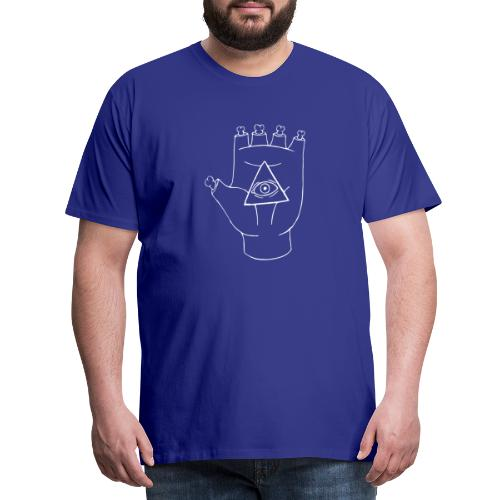 LOGO White - Herre premium T-shirt