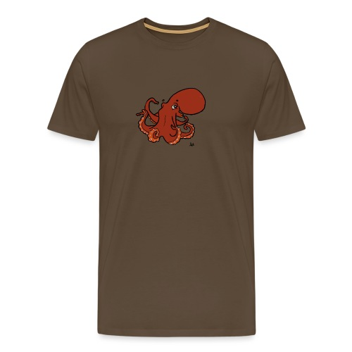 Giant Pacific Octopus - Men's Premium T-Shirt