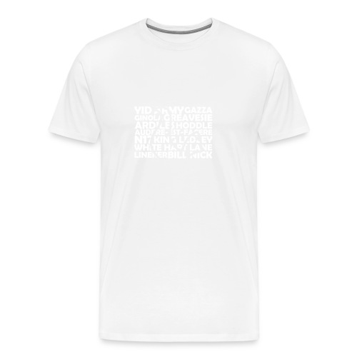 spurs cockerel text - Men's Premium T-Shirt