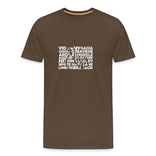 spurs cockerel text - Men's Premium T-Shirt