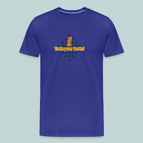 Train your brain blau-gelb - Männer Premium T-Shirt