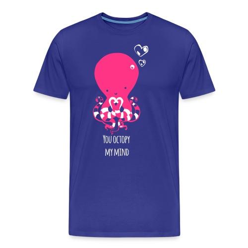 Tintenfisch Spruch dunkel - Männer Premium T-Shirt