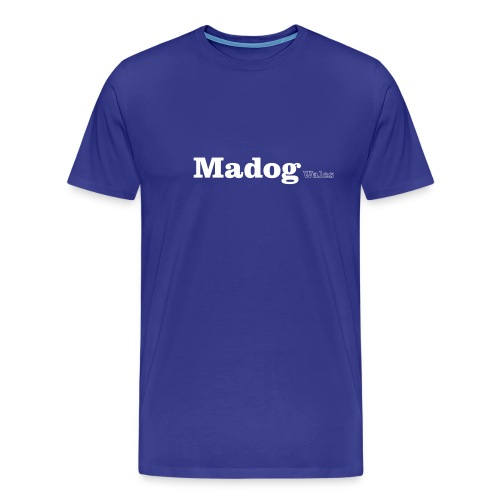 madog wales white - Men's Premium T-Shirt