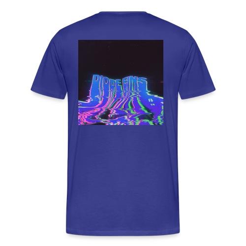 Funky Darkblue - Männer Premium T-Shirt