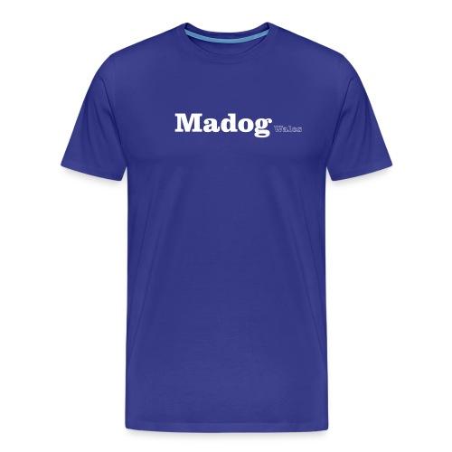 madog wales white - Men's Premium T-Shirt
