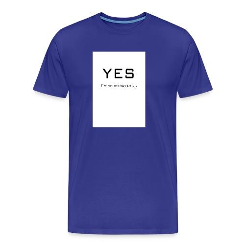 Introvert front - Mannen Premium T-shirt