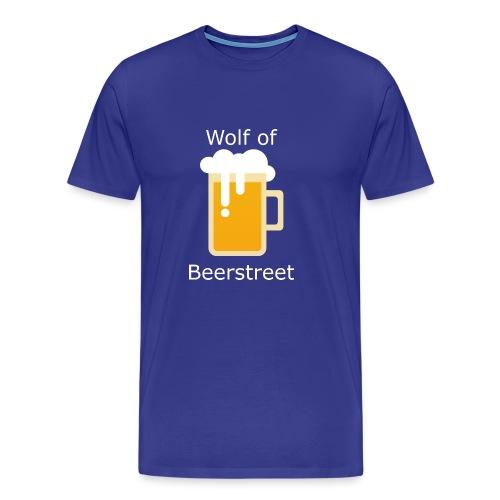 Beerplop Bierkrug Wolf of Beerstreet - Männer Premium T-Shirt