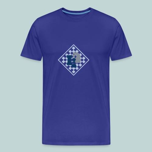 Schachbrett mit Dreiergruppe - Männer Premium T-Shirt