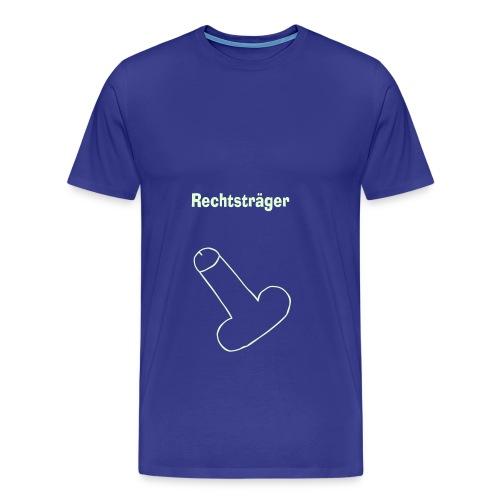 pimmel rechtstraeger final - Männer Premium T-Shirt